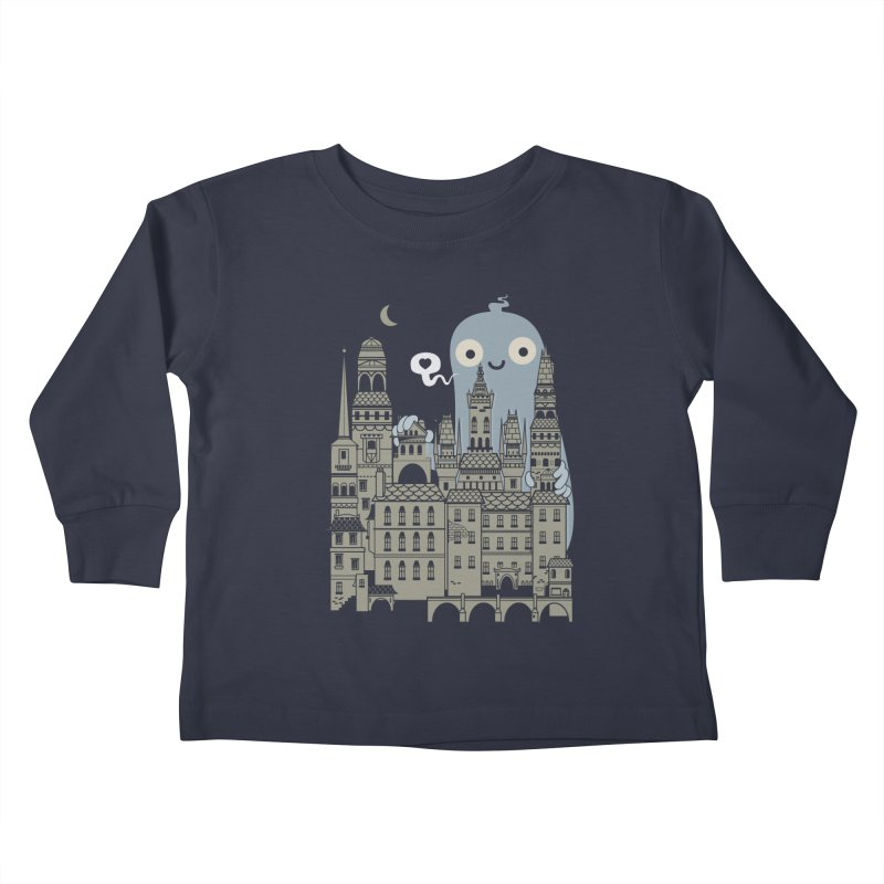 Ghost Town Kids Toddler Longsleeve T-Shirt by wotto's Artist Shop