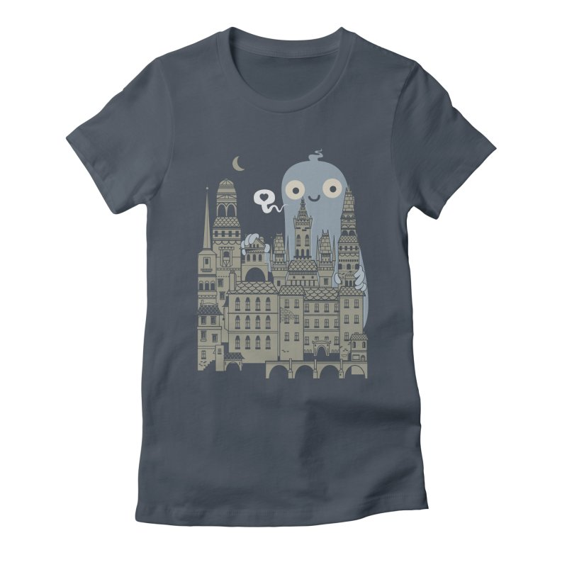 Ghost Town Women's Fitted T-Shirt by wotto's Artist Shop