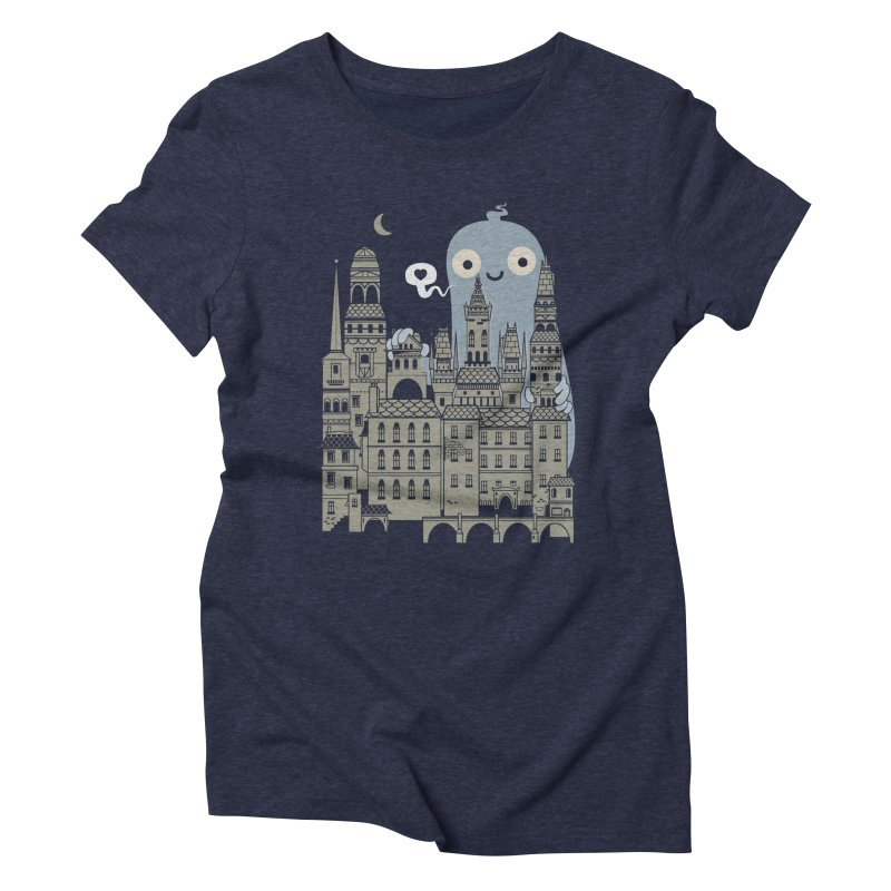 Ghost Town Women's Triblend T-Shirt by wotto's Artist Shop