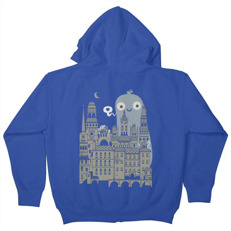 Ghost Town Kids Zip-Up Hoody by wotto's Artist Shop