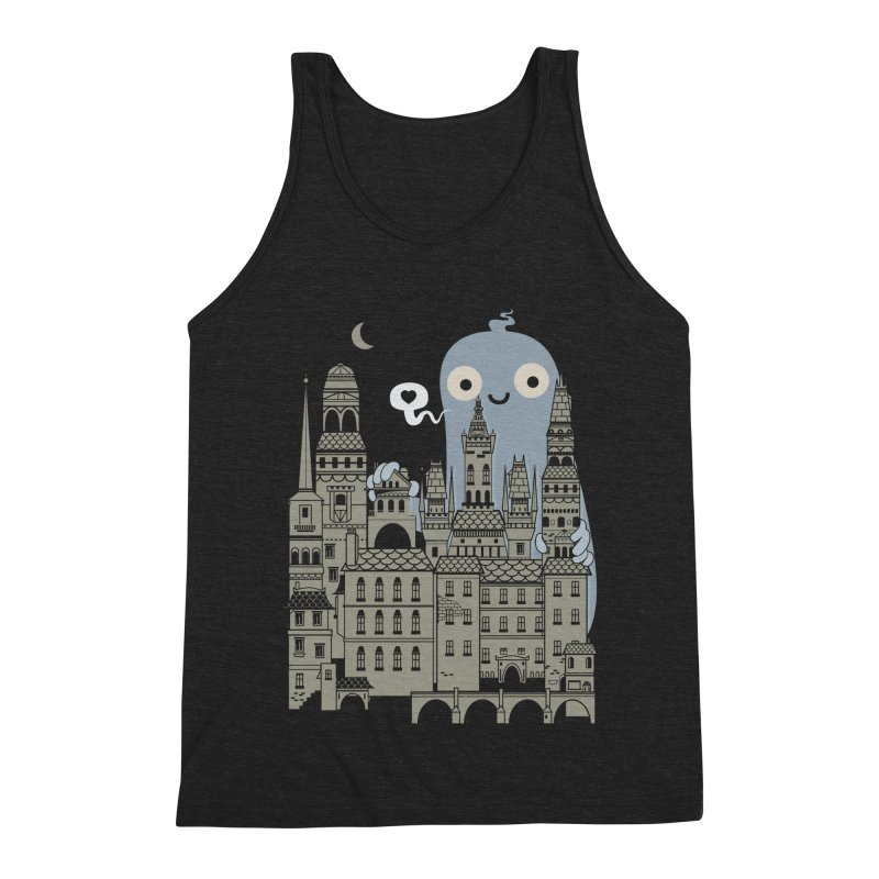 Ghost Town Men's Triblend Tank by wotto's Artist Shop