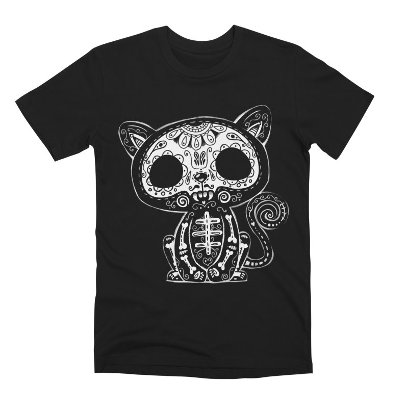 Day of the Dead Kitty Men's T-Shirt by wotto's Artist Shop