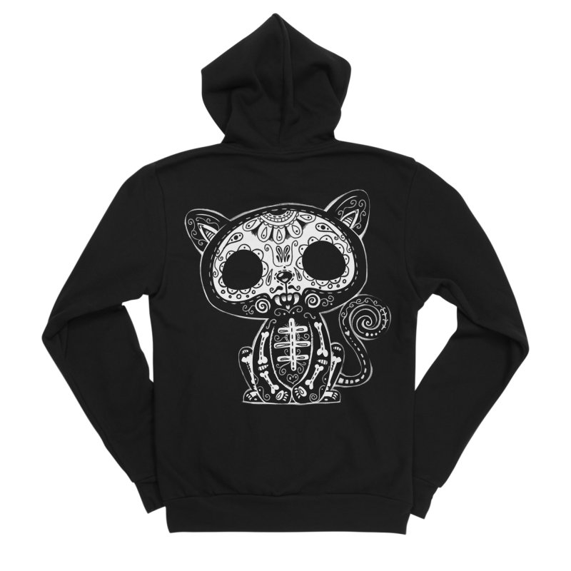Day of the Dead Kitty Women's Zip-Up Hoody by wotto's Artist Shop