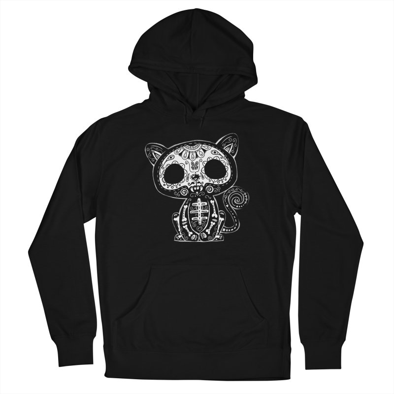 Day of the Dead Kitty Women's Pullover Hoody by wotto's Artist Shop