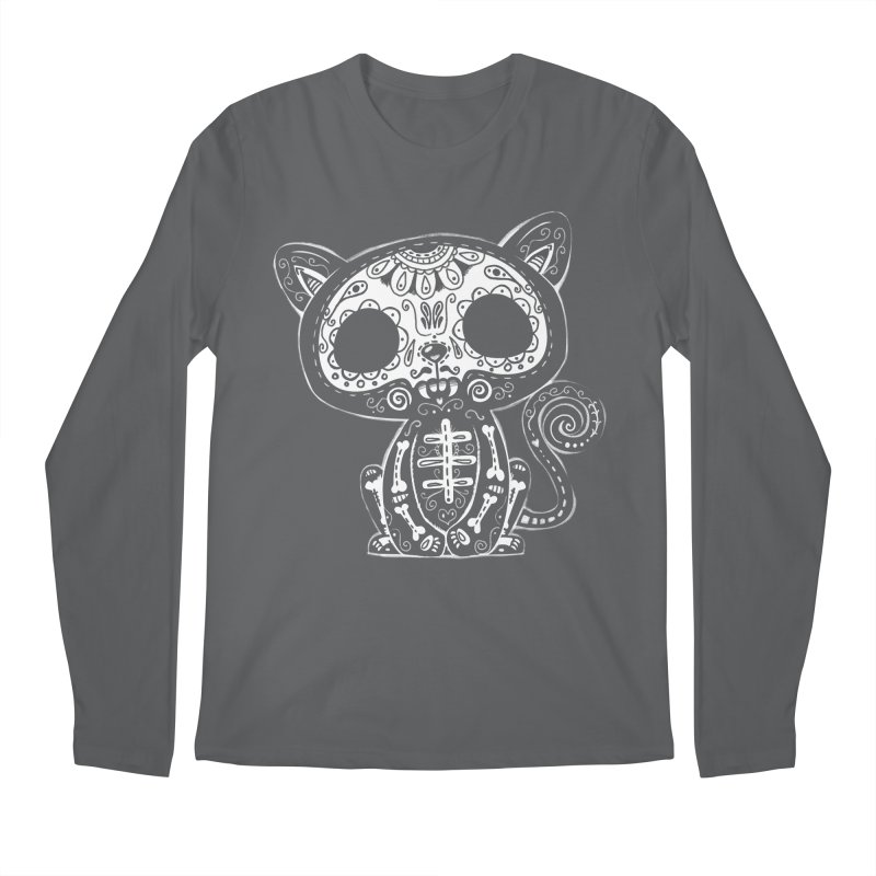 Day of the Dead Kitty Men's Longsleeve T-Shirt by wotto's Artist Shop