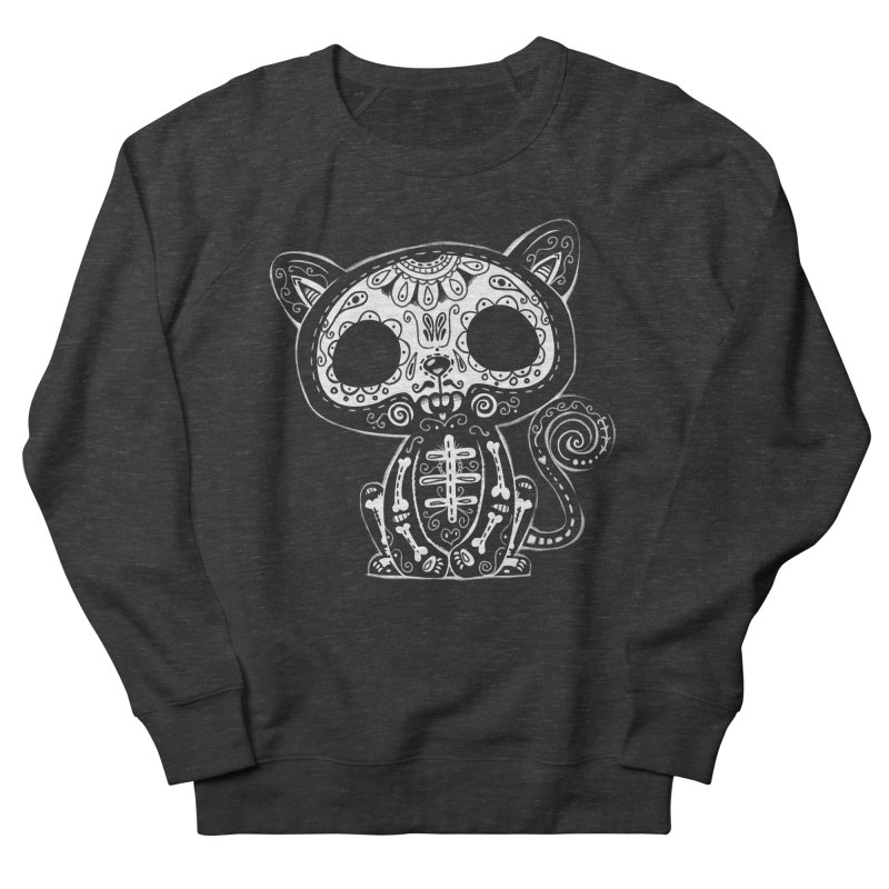 Day of the Dead Kitty Men's French Terry Sweatshirt by wotto's Artist Shop