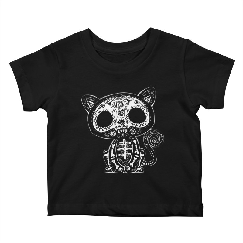 Day of the Dead Kitty Kids Baby T-Shirt by wotto's Artist Shop