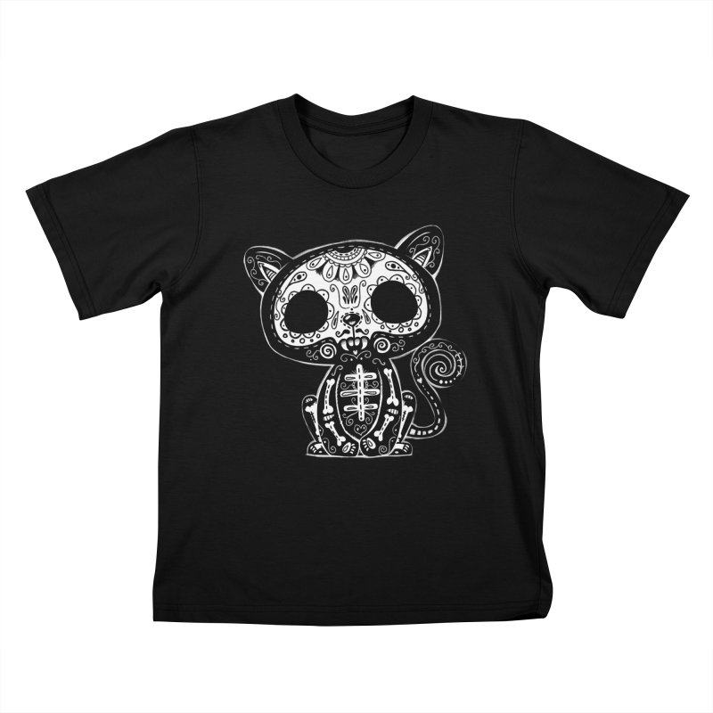 Day of the Dead Kitty Kids T-Shirt by wotto's Artist Shop