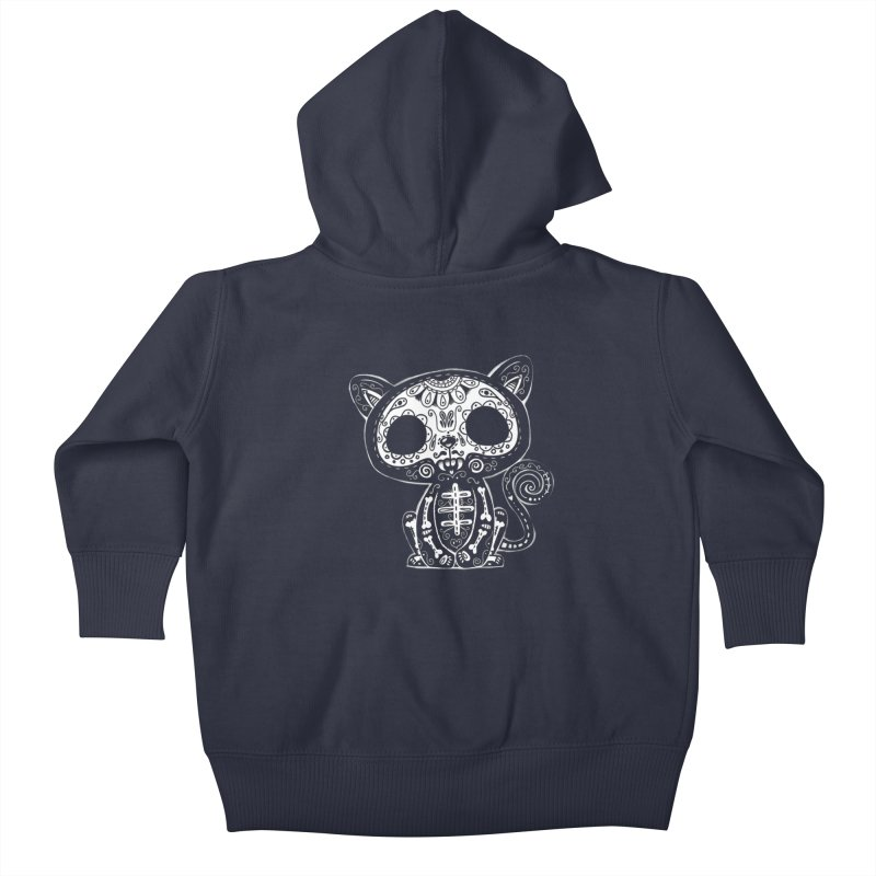 Day of the Dead Kitty Kids Baby Zip-Up Hoody by wotto's Artist Shop