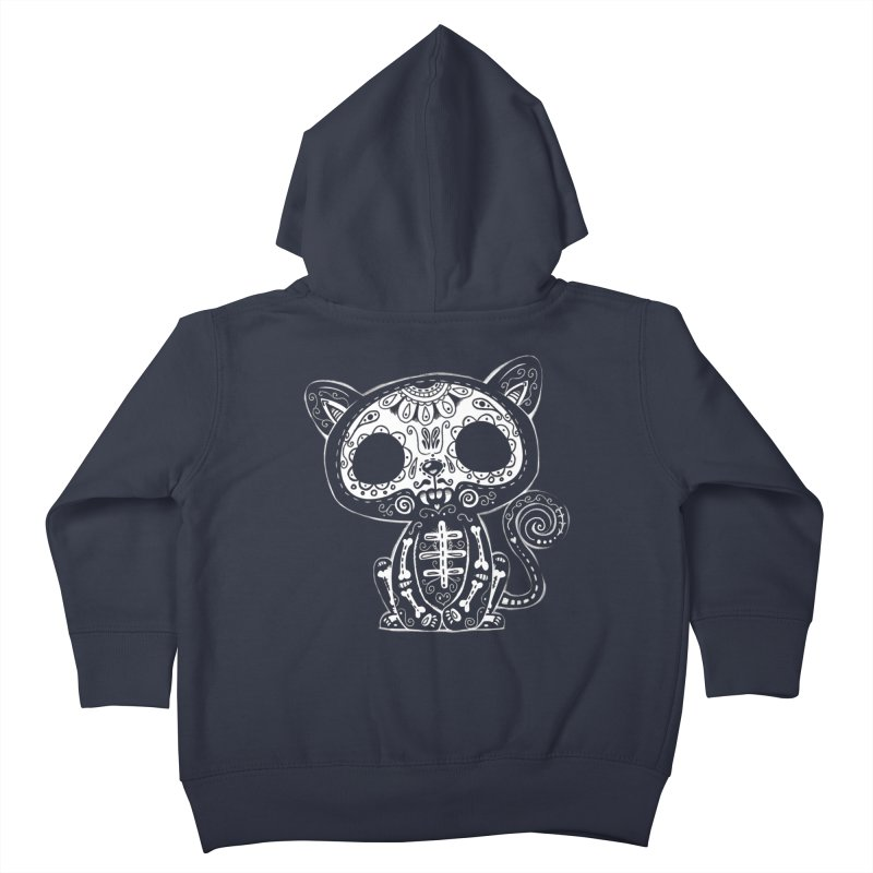 Day of the Dead Kitty Kids Toddler Zip-Up Hoody by wotto's Artist Shop