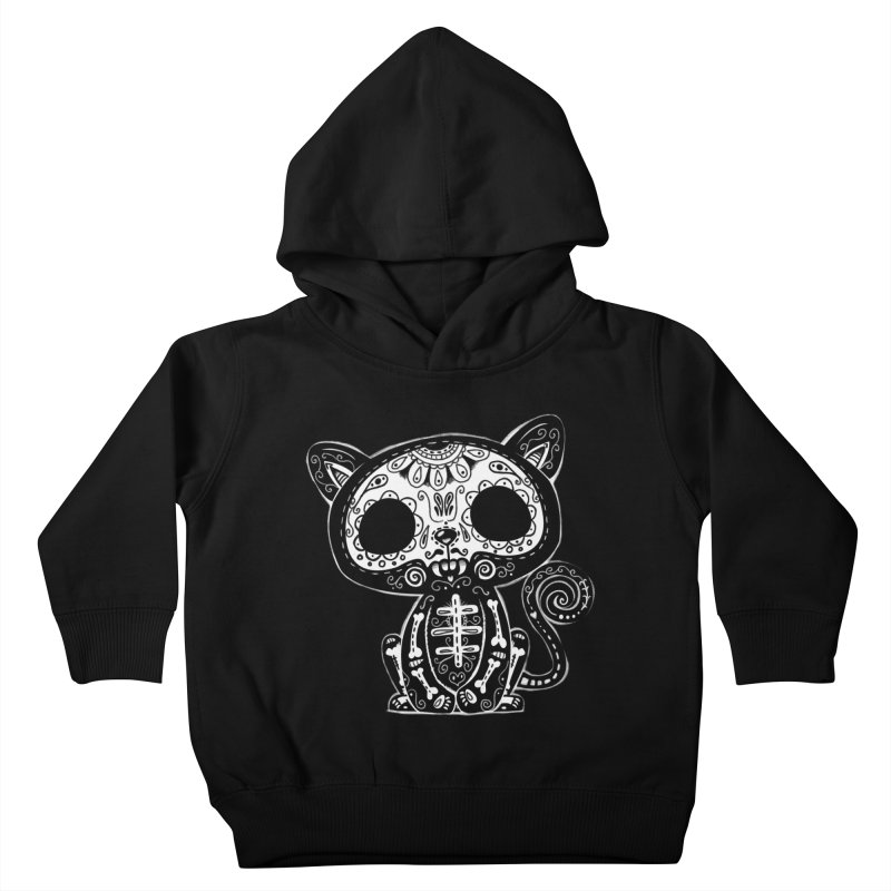Day of the Dead Kitty Kids Toddler Pullover Hoody by wotto's Artist Shop