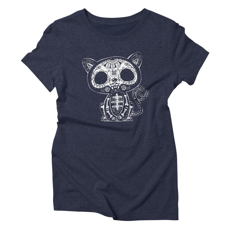 Day of the Dead Kitty Women's T-Shirt by wotto's Artist Shop