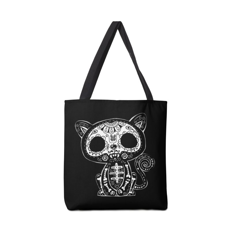 Day of the Dead Kitty Accessories Tote Bag Bag by wotto's Artist Shop