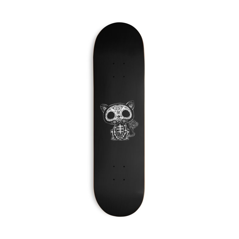 Day of the Dead Kitty Accessories Skateboard by wotto's Artist Shop
