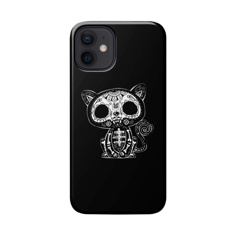 Day of the Dead Kitty Accessories Phone Case by wotto's Artist Shop