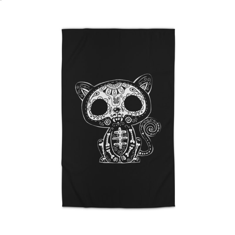 Day of the Dead Kitty Home Rug by wotto's Artist Shop