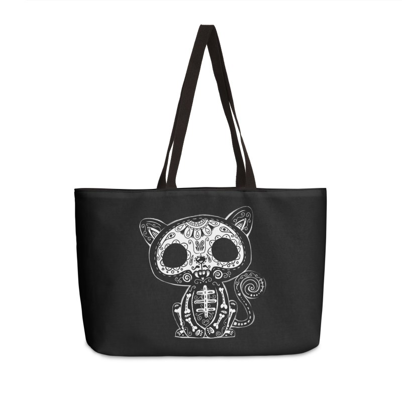 Day of the Dead Kitty Accessories Weekender Bag Bag by wotto's Artist Shop