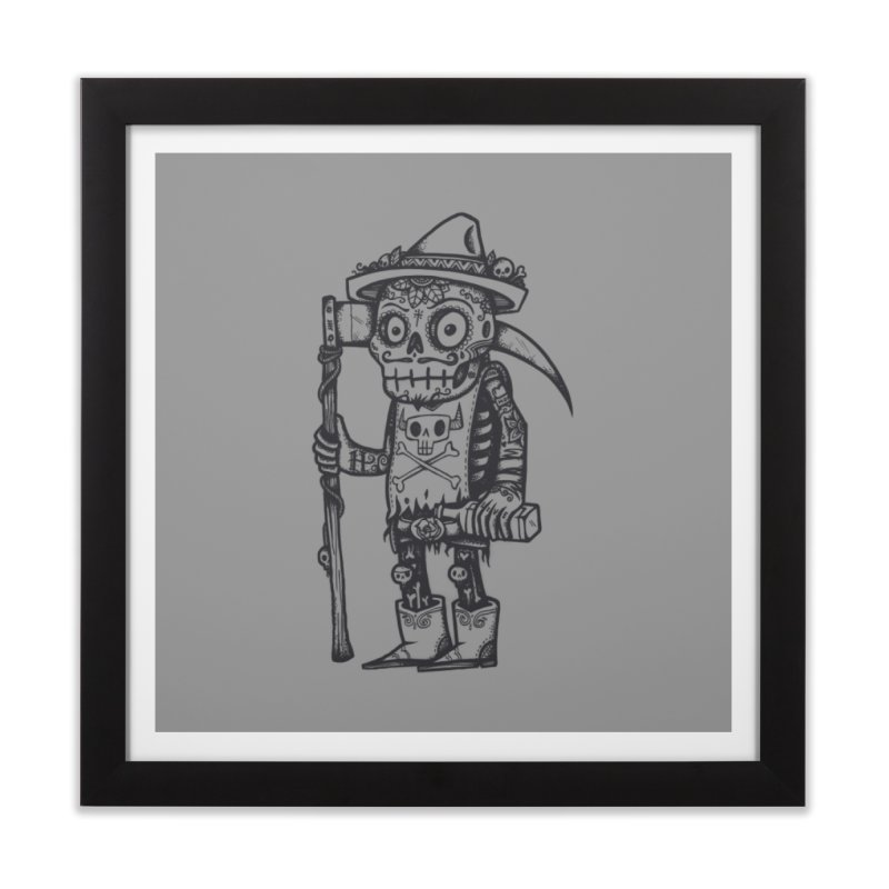 Death Waits Home Framed Fine Art Print by wotto's Artist Shop