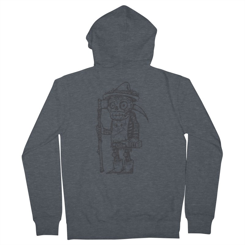 Death Waits Men's Zip-Up Hoody by wotto's Artist Shop