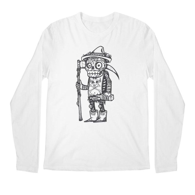 Death Waits Men's Regular Longsleeve T-Shirt by wotto's Artist Shop