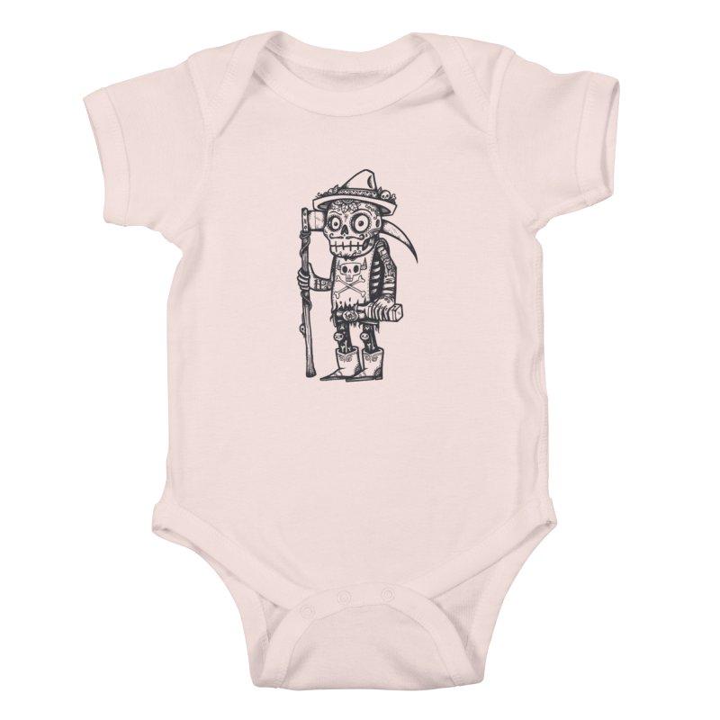 Death Waits Kids Baby Bodysuit by wotto's Artist Shop