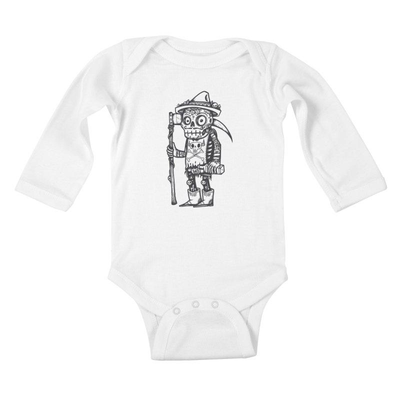 Death Waits Kids Baby Longsleeve Bodysuit by wotto's Artist Shop