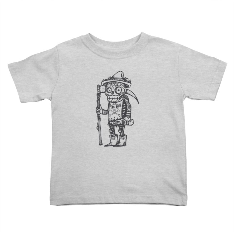 Death Waits Kids Toddler T-Shirt by wotto's Artist Shop