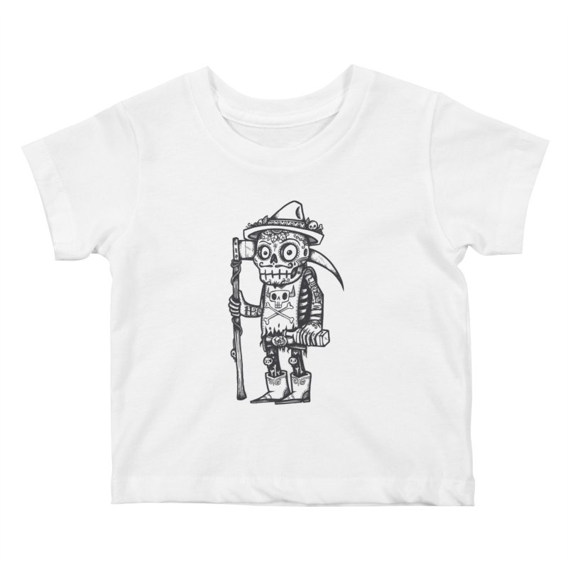 Death Waits Kids Baby T-Shirt by wotto's Artist Shop