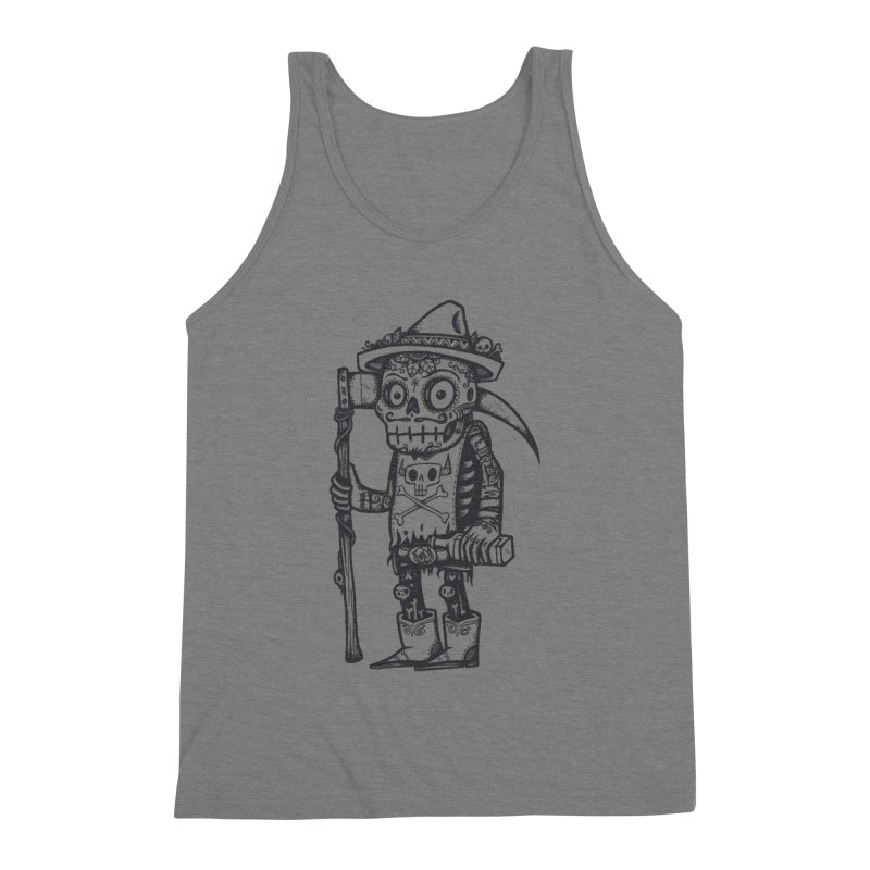 Death Waits Men's Triblend Tank by wotto's Artist Shop