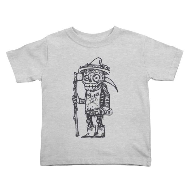 Death Waits Kids Toddler T-Shirt by wotto's Artist Shop