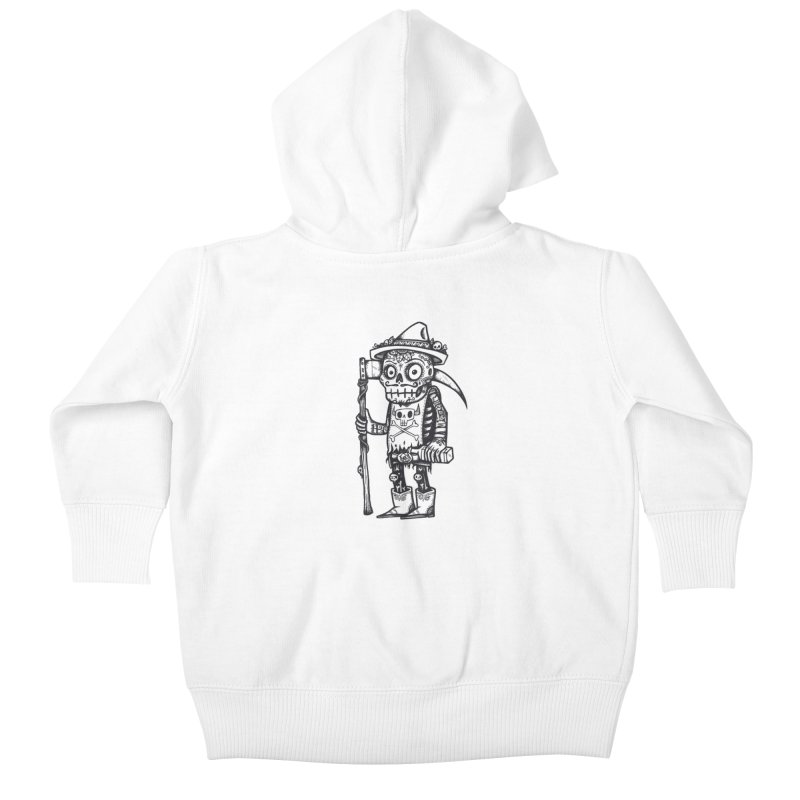 Death Waits Kids Baby Zip-Up Hoody by wotto's Artist Shop