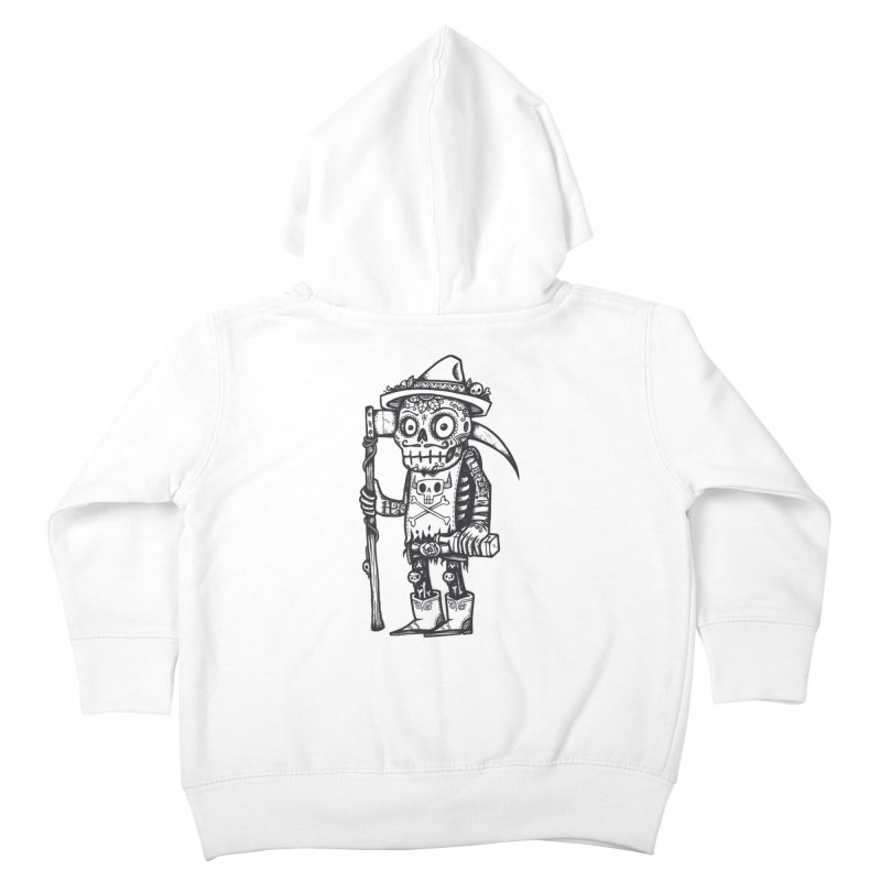 Death Waits Kids Toddler Zip-Up Hoody by wotto's Artist Shop