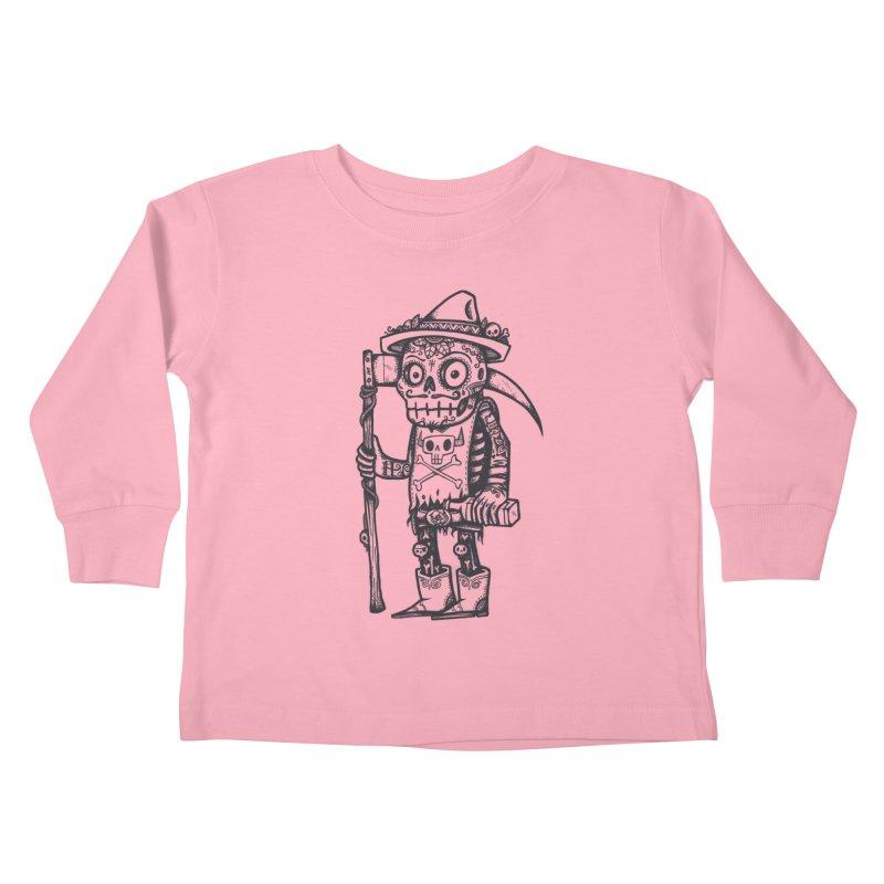 Death Waits Kids Toddler Longsleeve T-Shirt by wotto's Artist Shop