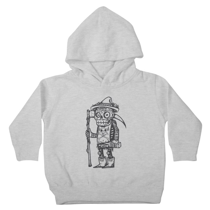 Death Waits Kids Toddler Pullover Hoody by wotto's Artist Shop