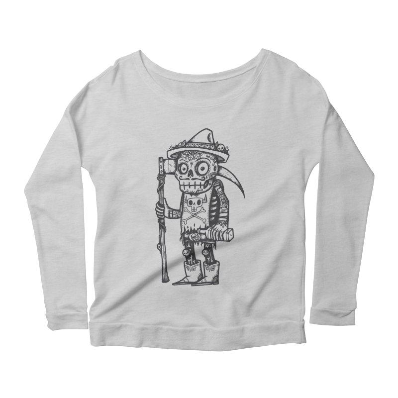 Death Waits Women's Scoop Neck Longsleeve T-Shirt by wotto's Artist Shop