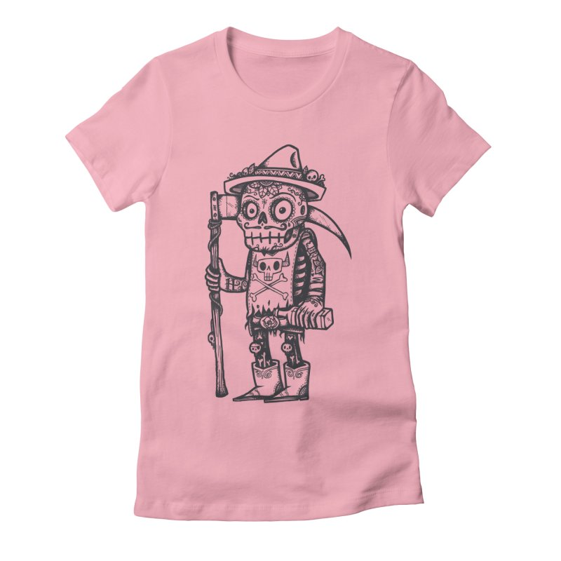 Death Waits Women's Fitted T-Shirt by wotto's Artist Shop