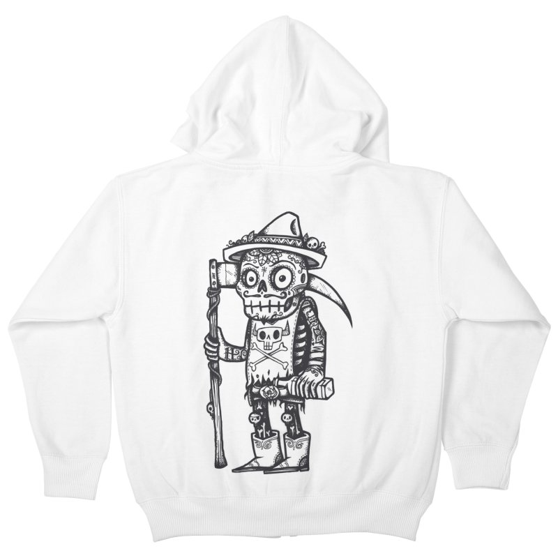 Death Waits Kids Zip-Up Hoody by wotto's Artist Shop