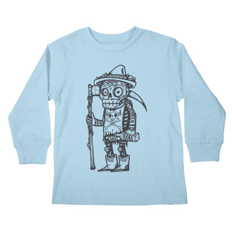 Death Waits Kids Longsleeve T-Shirt by wotto's Artist Shop