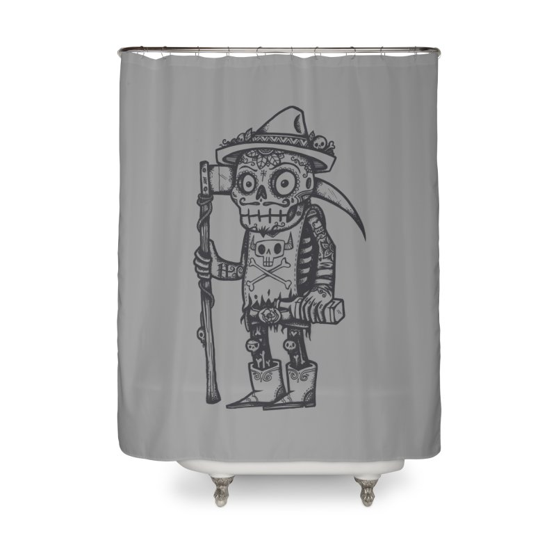 Death Waits Home Shower Curtain by wotto's Artist Shop