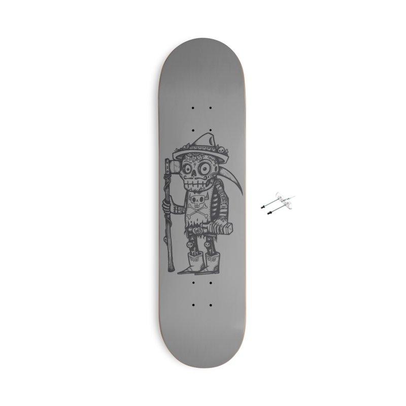 Death Waits Accessories Skateboard by wotto's Artist Shop