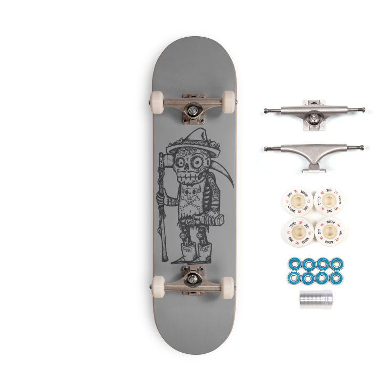 Death Waits Accessories Complete - Premium Skateboard by wotto's Artist Shop