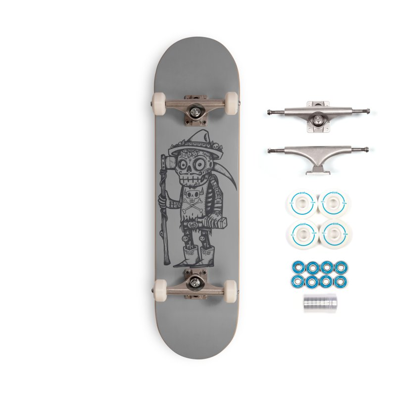 Death Waits Accessories Complete - Basic Skateboard by wotto's Artist Shop