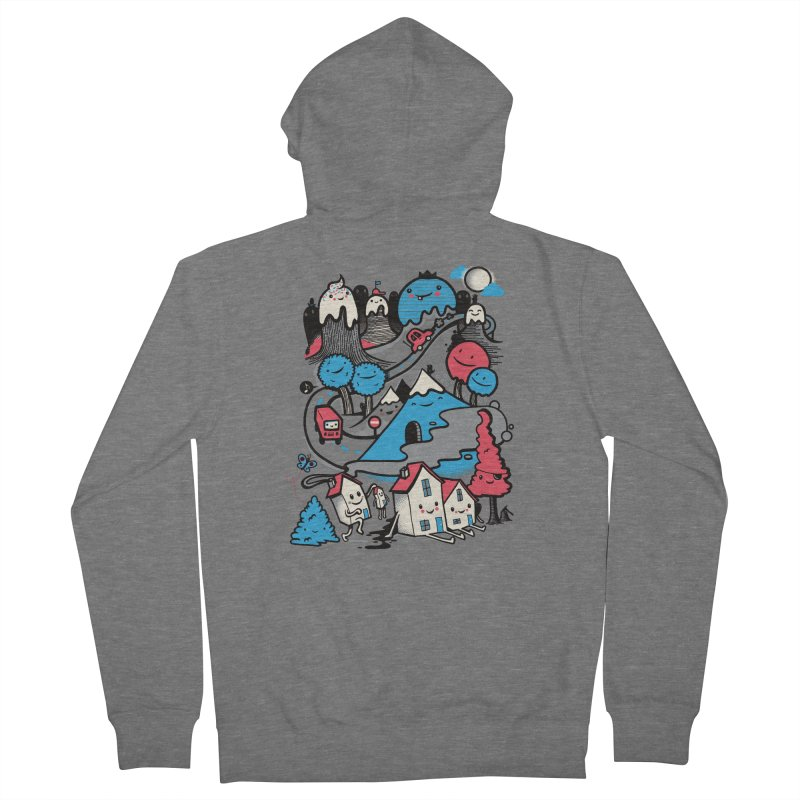 A World Without Humans Women's French Terry Zip-Up Hoody by wotto's Artist Shop