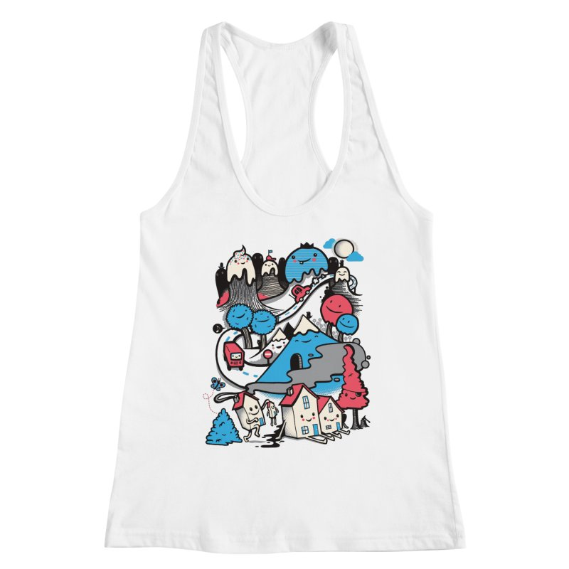 A World Without Humans Women's Racerback Tank by wotto's Artist Shop