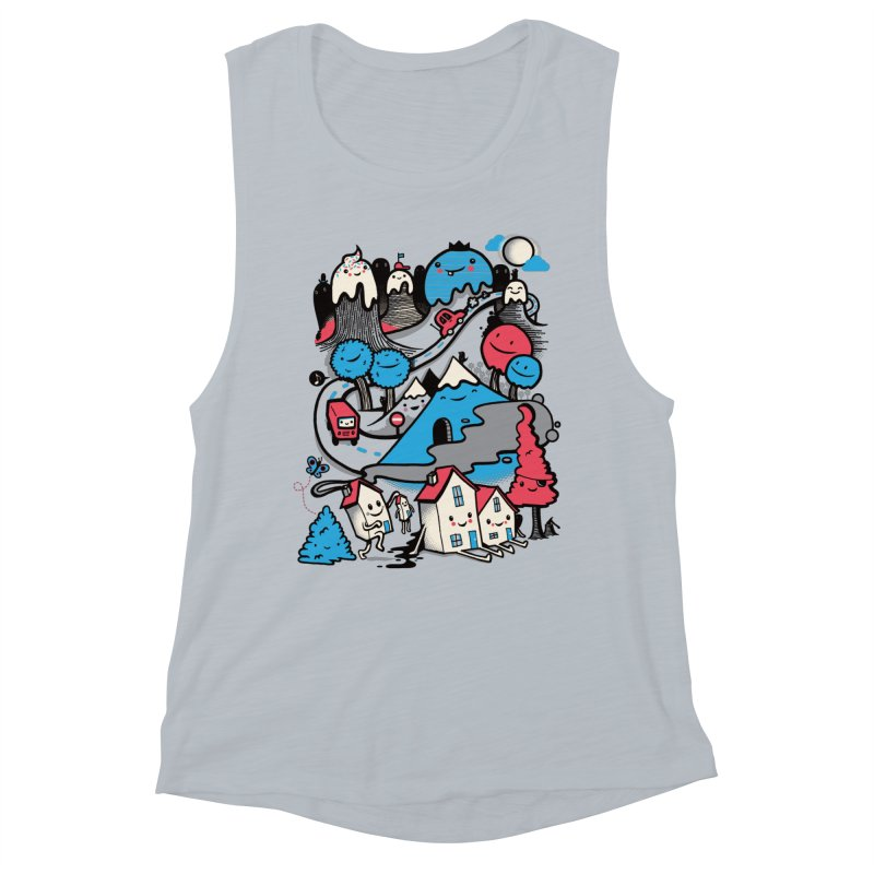 A World Without Humans Women's Muscle Tank by wotto's Artist Shop