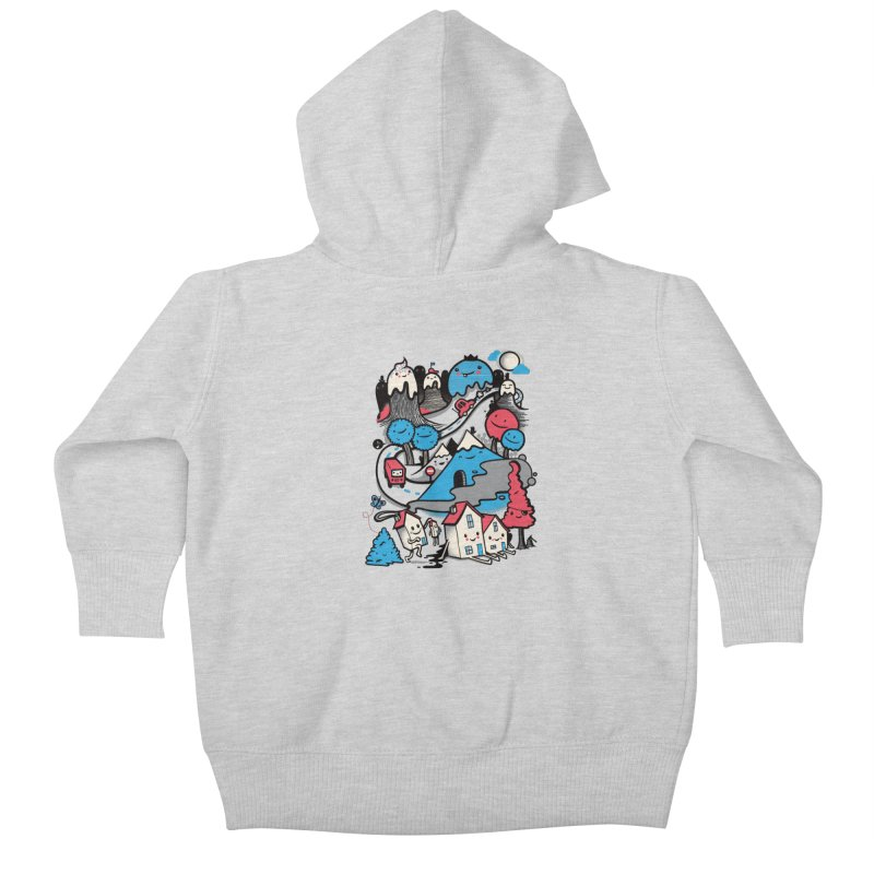 A World Without Humans Kids Baby Zip-Up Hoody by wotto's Artist Shop