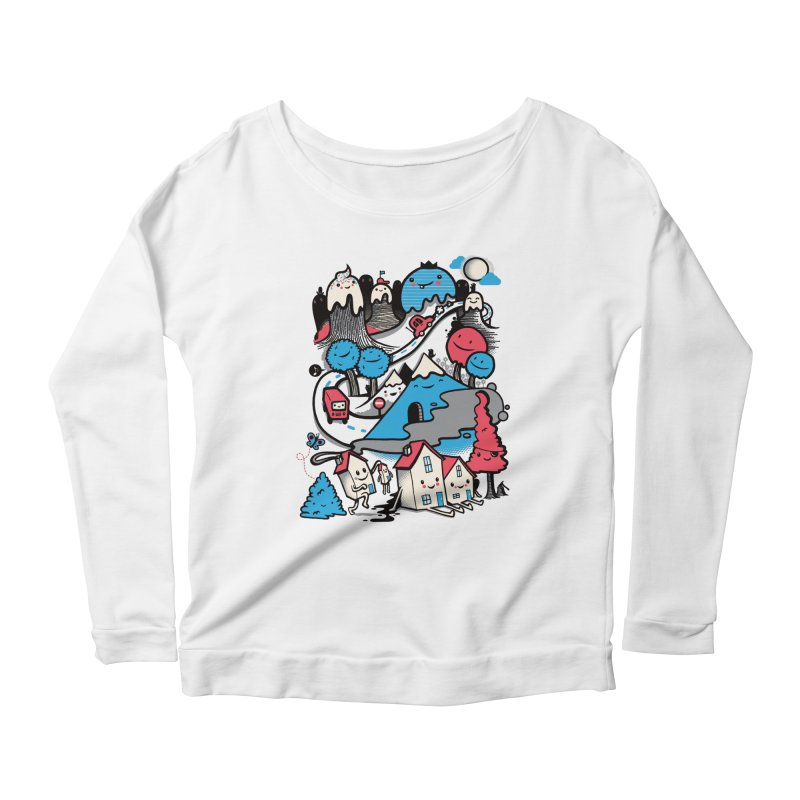 A World Without Humans Women's Scoop Neck Longsleeve T-Shirt by wotto's Artist Shop