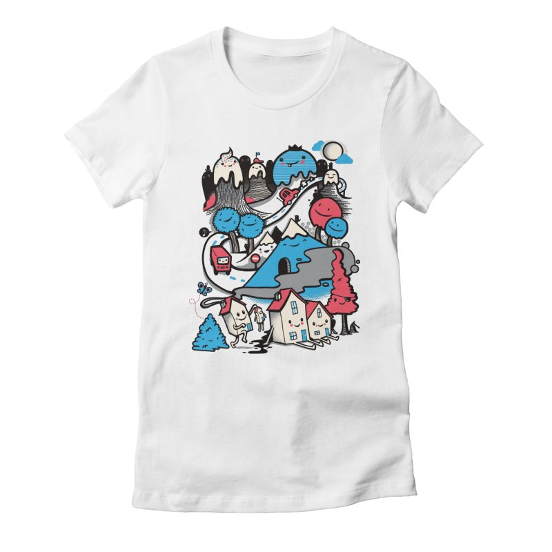 A World Without Humans Women's Fitted T-Shirt by wotto's Artist Shop