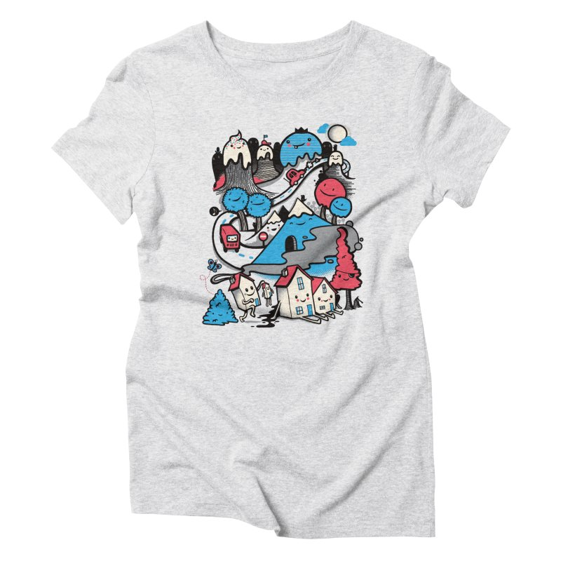 A World Without Humans Women's Triblend T-Shirt by wotto's Artist Shop