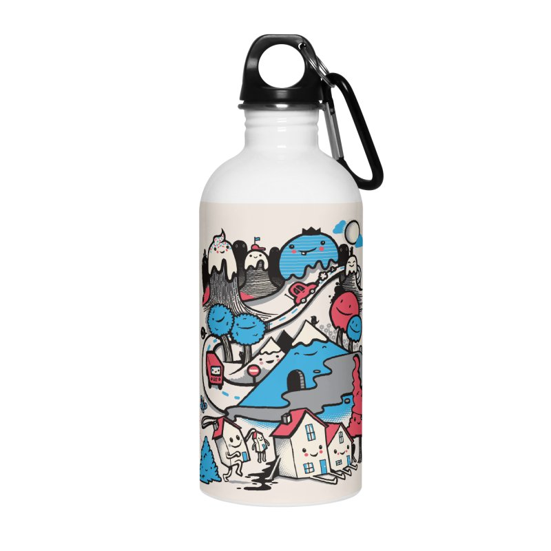 A World Without Humans Accessories Water Bottle by wotto's Artist Shop